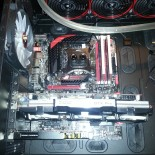 The GPU is only an old one to have there until the tubeing was done :).
